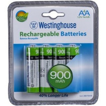 (paquete De 4) Baterías Westinghouse Aa Ni-mh Recargables 90