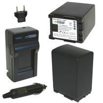 Kit 2 Baterias Y 1 Cargador P/ Canon Bp-827 Envio Gratis Mn4