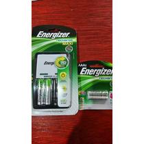 Kit Cargador Energizer + 2 Baterías Aa + 2 Baterías Aaa