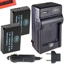 Bm Premium 2-pack De Lp-e12 Baterías Y Kit Cargador Para Can