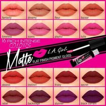 L.a. Girl Lip Gloss Matte Mate Indeleble Labial Tinta 15 Pz
