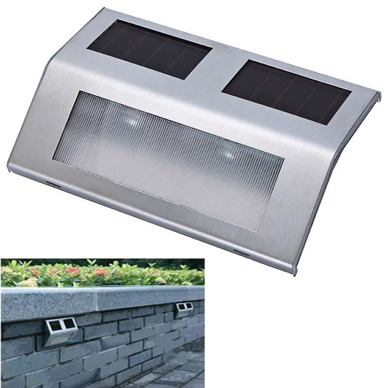 Lampara panel solar p exterior escalera barda jard n hm4 en mercadolibre - Lampara solar exterior ...
