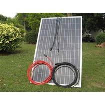 Kit 100 Watts Panel Solar Con 4 Focos Reflectors 10 Watts