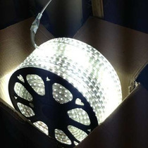 Rollo De Manguera Led P/decoracion Blanco Rollo Con 50m
