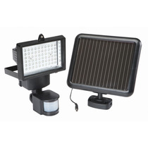 Reflector Solar 60 Leds Recargable Sensor Movimiento Lampara