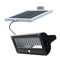 Lámpara Con Panel Solar Y Reflector Led Sensor De Movimiento