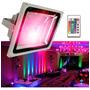 Reflector Led Rgb 10 Watts Interior Y Exterior 16 Colores