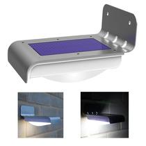 Lámpara Led Energía Solar Sensor Luz Y Movimiento Automatica