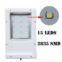 Lampara Led 15w Solar Recargable Encendido Automatico Stk