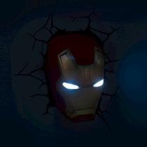 Ironman Figuras Marvel Lamparas De Pared 3d Superheroes