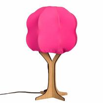 Lámpara Arbol Rosa Luz Multicolor Control Remoto Foco Led