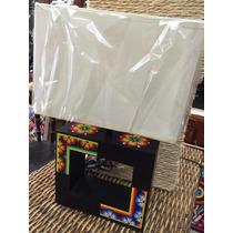 Lampara Forrada Con Arte Huichol
