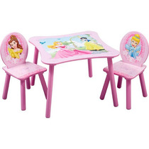Disney Princess Mesa Cuadrada Y Presidente Set