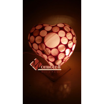Lampara De Onix Corazon Rizado, 14 De Febrero, San Valentin