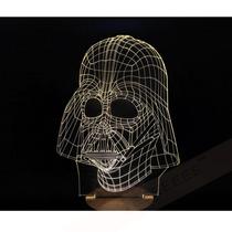 Lampara Acrilico 3d Darth Vader Unica Y Genial