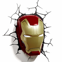 Iron Man 3 Mask 3d Lampara Decorativa