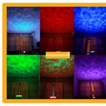 Genial Lampara Luz Led Projector De Olas Bocina Hm4 Usb