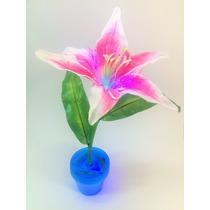 Centros De Mesa Flores Lampara Fibra Optica Dia De Las Madre