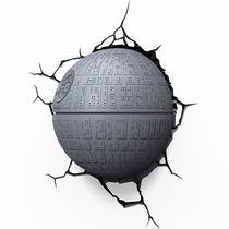 Star Wars Oficial Estrella De La Muerte Lampara De Pared 3d