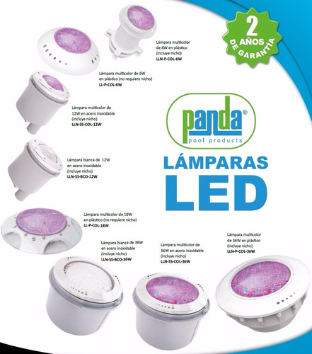 Lamparas plasticas led focos piscinas albercas multicolor for Focos para piscinas precios
