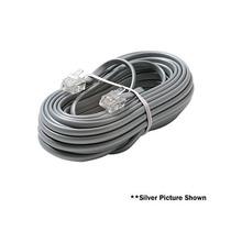 4c 15' Ivory Modular Cable De Línea