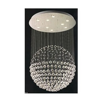 Candil Esfera De Cristal Cortado 6 Luces. 66x1.20 Id