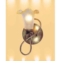 Lampara Pared 1 Luz Con Pantalla De Cristal 10cm X 30cm Lt