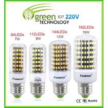 Foco Led Aluminio Ahorrador 85 Leds 7w Luz Blanca-calida E27