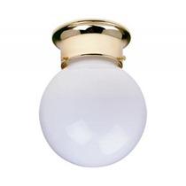 Mini Plafon Con Base Latón Y Esfera De Cristal 15cmx19cm Cx