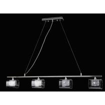 Lámpara Colgante 4 Luces Terminado Cromo 1mt X 90cm Th