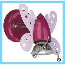Lámpara De Pared Con Forma De Mariposa, Color Rosa