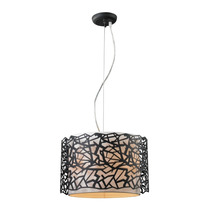 Lámpara Colgante Estilo Moderno Terminado Metal Negro Cl
