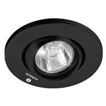 Luminario Empotrable Dirigible Esferico Negro Voltech 46624