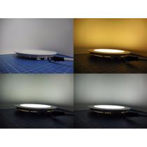Plafon Empotrado Led 12w Tricolor Blanco/calido/natural