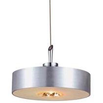 Luminario Decorativo Techo Vidrio Acabado Aluminio Illux