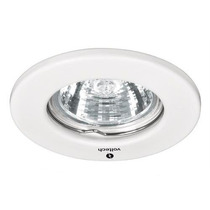 Luminario Empotrable Fijo Blanco Foco Mr16 50w Voltech 46612