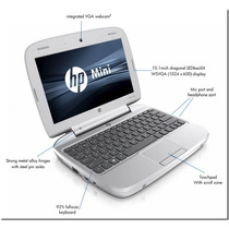 Mini Laptop Hp 2gb Hd 160gb Windows7 Super Pequeña Hermosas!