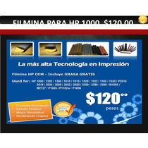 Filmina, Telilla Teflon Para Hp Laserjet 1000 $120.00