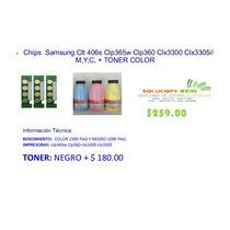 Chip Samsung C410w Clt 406s Clp365w Clp3600 + Toner Color