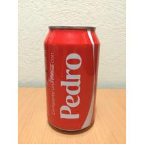 Lata Coca Cola Con Nombre Pedro Llena