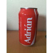 Lata Coca Cola Con Nombre Adrian Llena