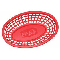 Oferta 4 Canastas Charola Cesta Para Hamburguesas Coca Cola