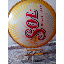 Anuncio Luminoso Cerveza Sol Tipo Bandera