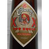 Rara Vieja Ficha Botella Llena De Cerveza Moctezuma Xx 1950s