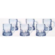 Set Juego 6 Mini Tarros Tequileros Vidrio Transparente E4f