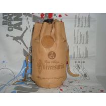 Porta Botella De Cuero - Aniversario Ron Añejo (vacia)