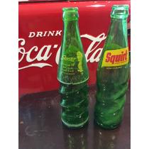 Par De Botellas Antiguas De Refresco Squirt