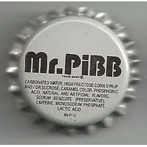 Corcholata Ficha Refresco Mr. Pibb ( Coca-cola Co., E U A )