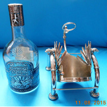 Base Con Botella Vacia Tequila Espolon Blanco Buena
