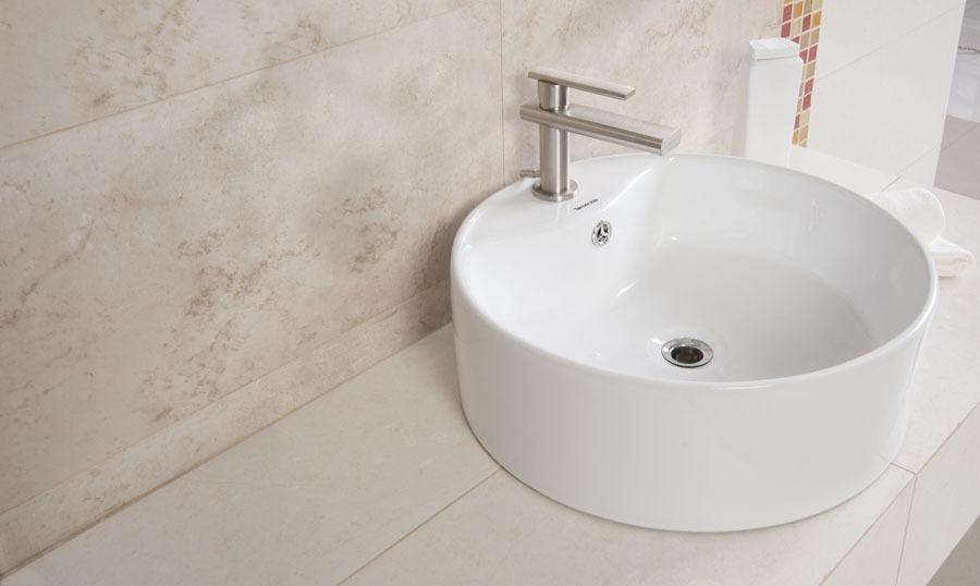 Lavamano Blanco Redondo Sobreponer Superficial Mueble Ba O